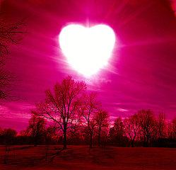 coeur rayronnant